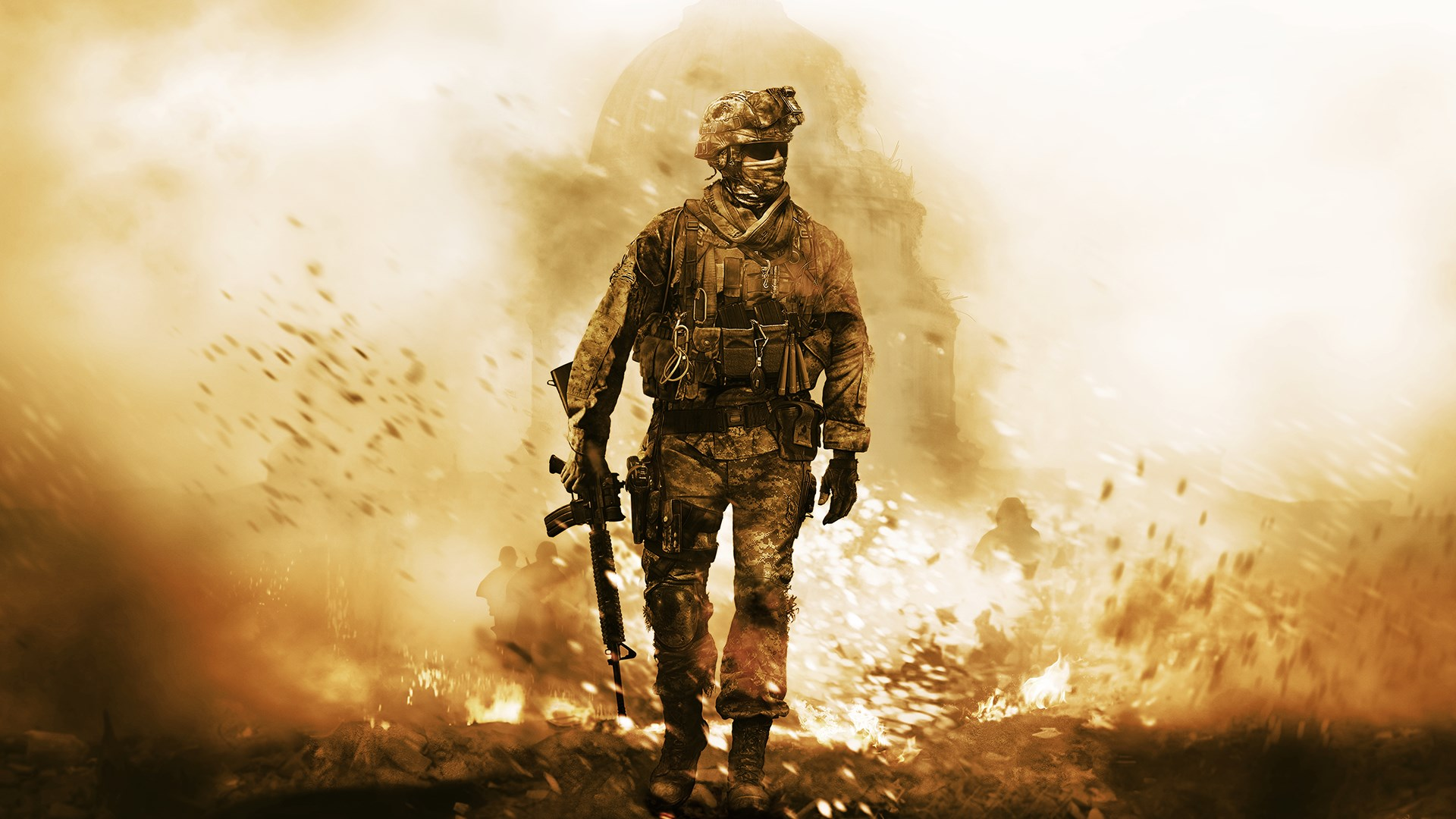 In a Battle Call Of Duty game Poster