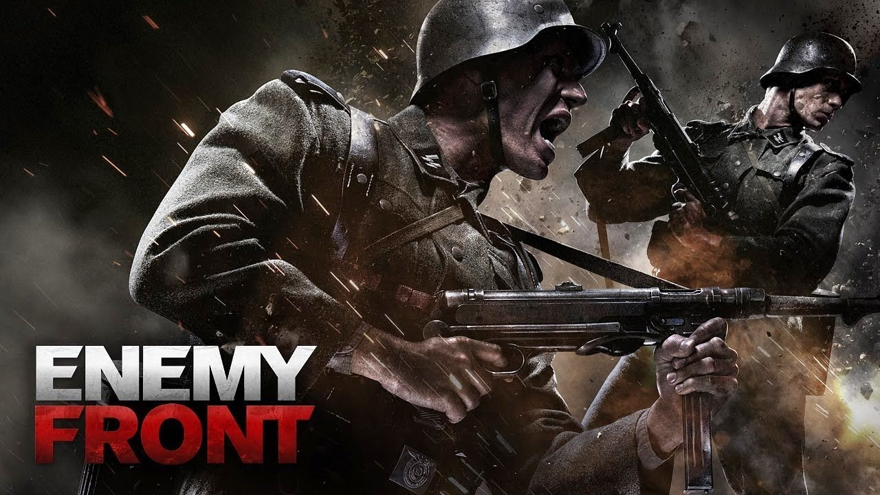 Enemy Front Men With Guns Poster
