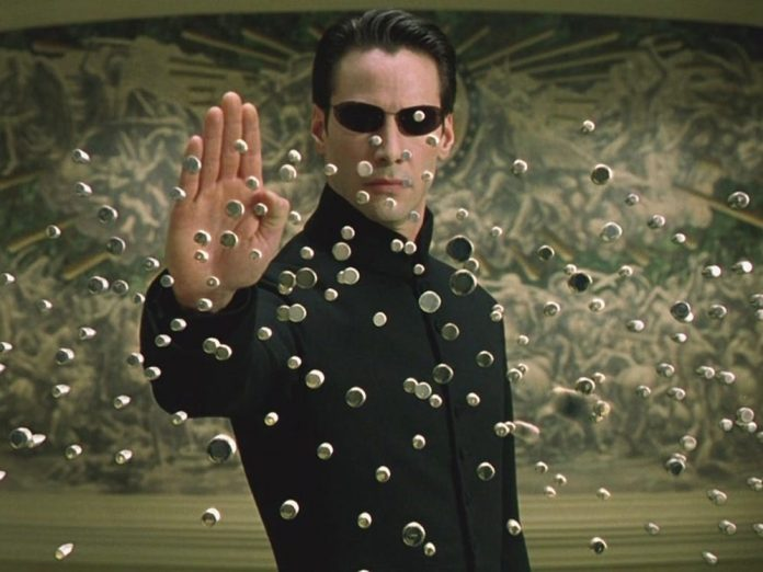 Man With Matrix Poster