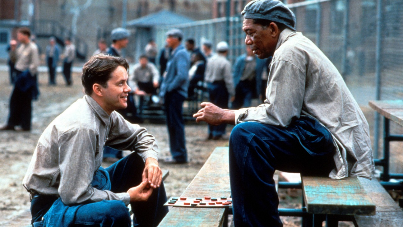 The Shawshank Redemption Tim Robbins & Morgan Freeman Poster