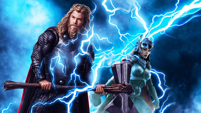 Thor 4 Love And Thunder cast poster