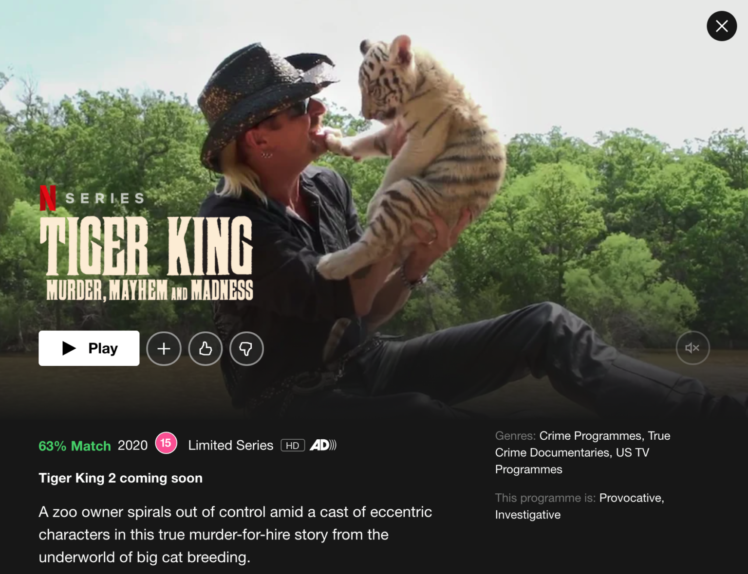 """Netflix has Confirmed the Tiger King will Return with Season 2 """"SOON"""""""